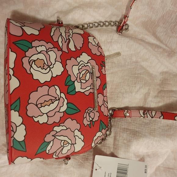 Betsey Johnson Handbags - Betsy Johnson Red Floral Crossbody Bag